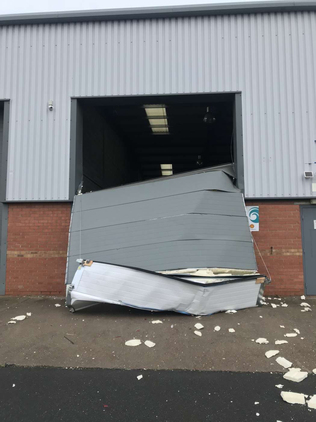 C and N Doors Rush to Ram Raided Sectional Door near Doncaster