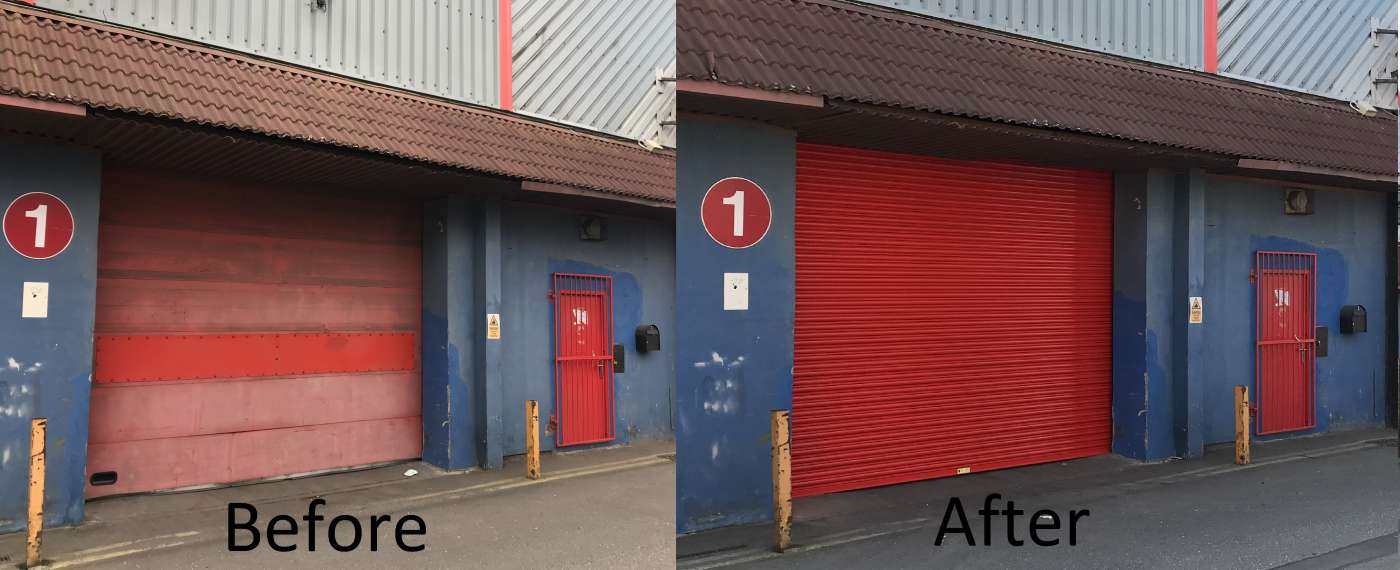 Sectional Door to Roller Shutter in Hull
