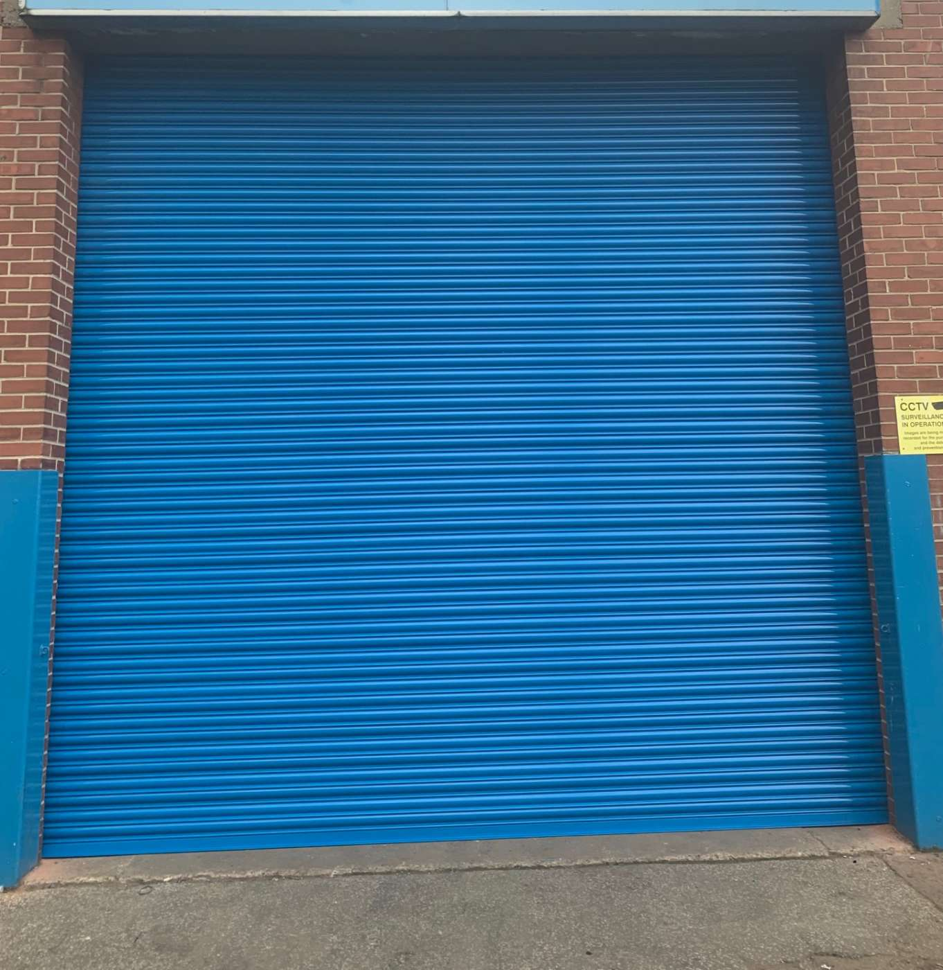 New Roller Shutter Fitted in Hull, in Bright Blue