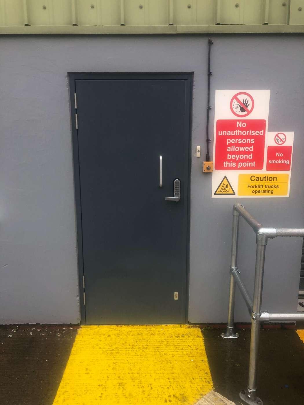New Steel Security Door Set Fitted Pocklington